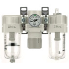 AC10-A to AC40-A, Air Filter, Regulator and Lubricator Combination