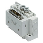 SS5Y3-12, 3000 Series Manifold, D-sub Connector, Flat Ribbon Cable, PC Wiring System (IP40)