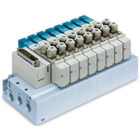SS5Y5-52, 5000 Series Manifold, D-sub Connector, Flat Ribbon Cable, PC Wiring System (IP40)