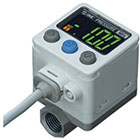 ISE40A, Digital Pressure Sensor, 1 Screen 2 Output with Analog, IP65