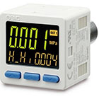 25A-ISE20C(H), Digital Pressure Sensor, 3 Screen 2 Output with Analog, Secondary Battery