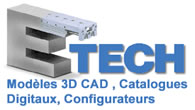 Modeles 3D CAD, Catalogues Digitaux, Configurateurs