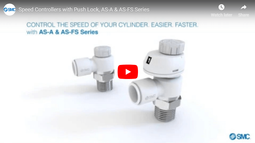 Speed Controllers with Push Lock, AS-A & AS-FS Series