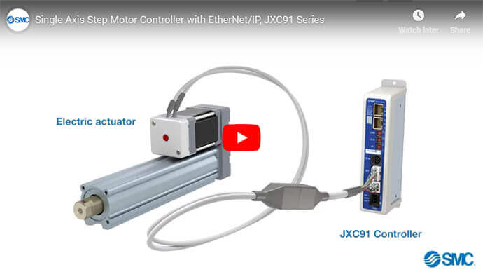 Single Axis Step Motor Controller with EtherNet/IP, JXC91 Series