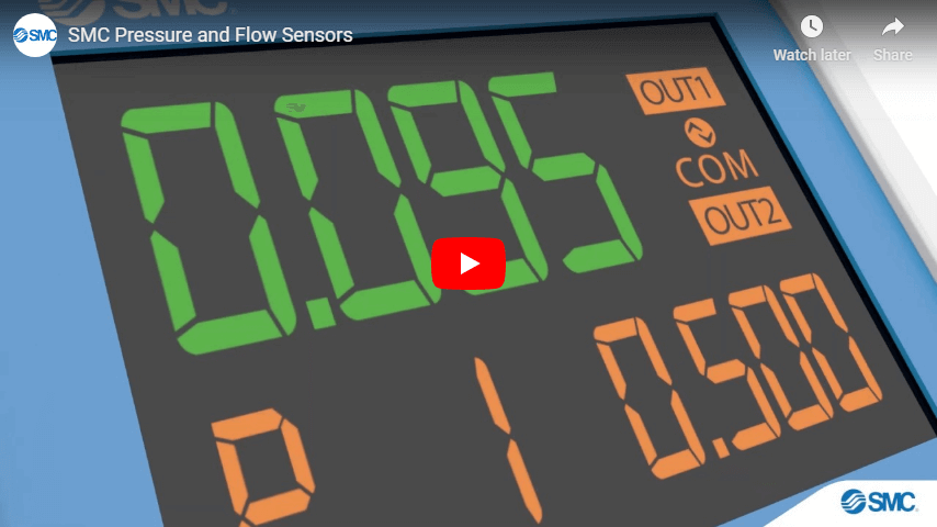 SMC Pressure and Flow Sensors