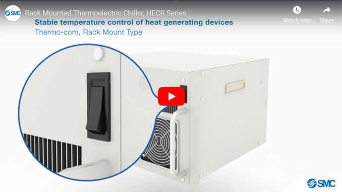 Rack Mounted Thermoelectric Chiller, HECR Series