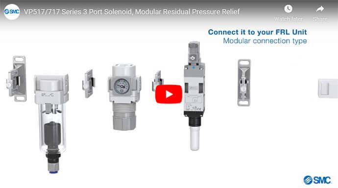 VP517 VP717 Series 3 Port Modular Residual Pressure Relief