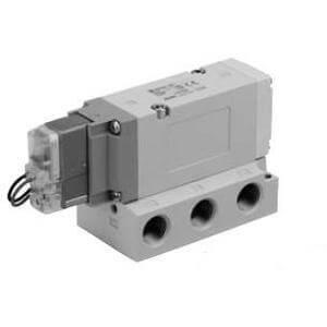 VF5000, Elektromagnetický nepřímo ovládaný 5/2 a 5/3 ventil, s usměrňovačem