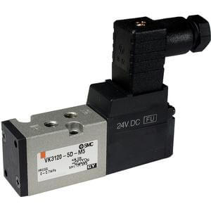 VK3000, 5 Port Solenoid Valve, Direct Poppet, Rubber Seal