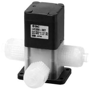 LVC200-S, 3 Port High-Purity Chemical Valve, Air Operated, Integral Fitting Type