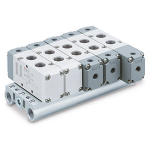 VV5FA5, Vícenásobná připojovací deska, montáž zdola (integrovaná), (metrická)