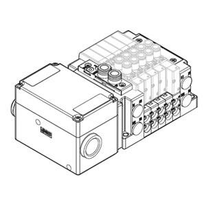SS5Y3-12TC, Serie 3000, Klemmenkasten (IP67) Federkraftklemmen, Anschluss oben