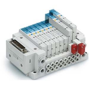 SS5Y5-10, 5000 Series Manifold, D-sub Connector, Flat Ribbon Cable, PC Wiring System (IP40), Side Ported