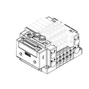 SS5Y5-12, Serie 5000, D-Sub-Stecker, Flachbandkabel, PC-Anschluss (IP40), Anschlüss oben