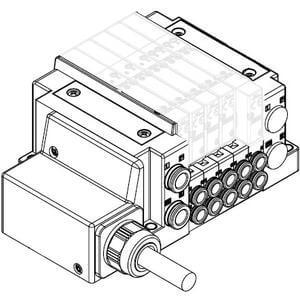 SS5Y3-10L, Serie 3000, Anschlusskabel (IP67), Anschlüsse seitlich