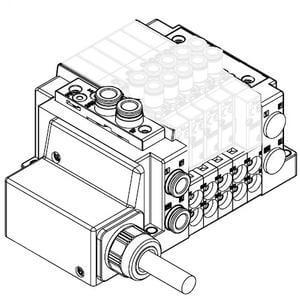 SS5Y3-12L, Serie 3000, Anschlusskabel (IP67), Anschluss oben