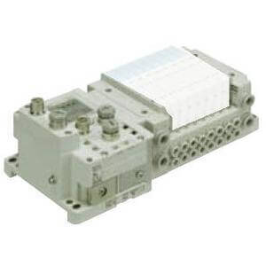 SS5Y3-10S6, 3000 Series Manifold for Series EX600 Integrated (I/O) Serial Transmission System (Fieldbus) (IP67), Side Ported