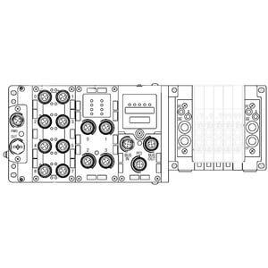 SS5Y5-12S6, 5000 Series Manifold for Series EX600 Integrated (I/O) Serial Transmission System (Fieldbus) (IP67), Top Ported