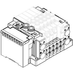 SS5Y3-12S3, Serie 3000, serielles Übermittlungssystem EX120 (für Ausgänge) (IP20), Anschluss oben
