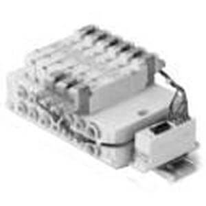 SS5Y5-45S6A, Base Mounted Manifold, Stacking, Serial Transmission System