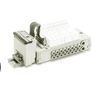 SS5Y3-45S1*, 3000 Series, Stacking Manifold, DIN Rail Mount, SI unit (Separate type)