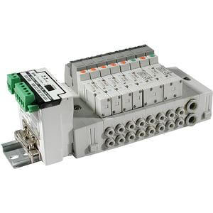 SS5Y3-45S1D, 3000 Series, Stacking Manifold, DIN Rail Mount, Sharp Serial Unit