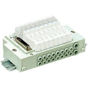 SS5Y3-45G, 3000 Series, Stacking Manifold, DIN Rail Mount, Flat Cable, PC Wiring Compatible