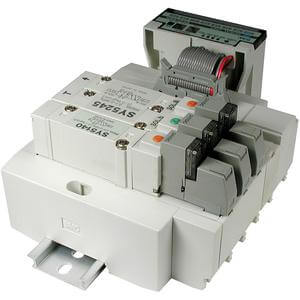 SS5Y5-45S1D, 5000 Series, Stacking Manifold, DIN Rail Mount, Sharp Serial Unit