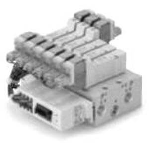 SS5Y3-42SA, 3000 Series, Base Mounted Manifold, Serial Transmission System, Integrated