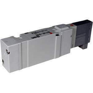 SX7000, Elektromagnetický nepřímo ovládaný 5/2 a 5/3 ventil, se závity v tělese / montáž na základovou desku