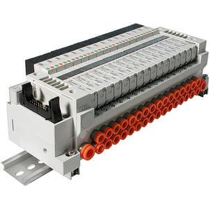 VV5Q11-G, 1000 Series, Base Mounted Manifold, Flat Cable w/Power Supply Terminal Block