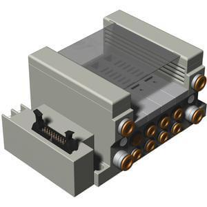 VV5Q21-G, 2000 Series, Base Mounted, Flat Ribbon Conn. w/Power Supply
