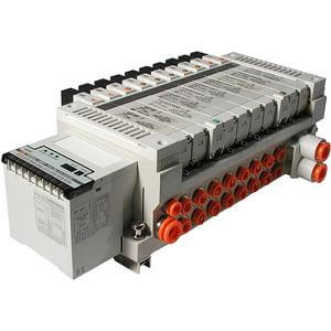 VV5Q21-S, 2000 Series, Base Mounted Manifold, Plug-in, Serial Transmission Unit