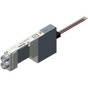 SQ1*4*, řada 1000, Elektromagnetický nepřímo ovládaný 5/2 a 5/3 ventil, vodiče do společného konektoru, Nová řada