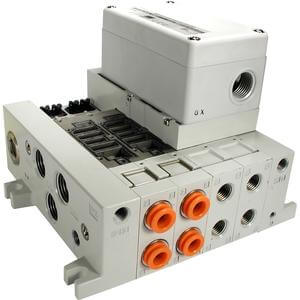 VV5Q41-S, 4000 Series, Base Mounted Manifold, Plug-in, Serial Transmission Unit