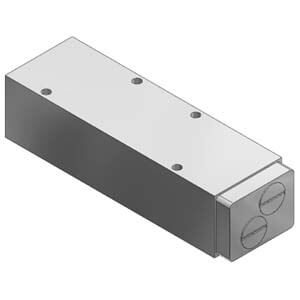 VVQ5000-20A-5, Mezikus se škrticími ventily, pro VQ5000, individuální elektrické připojení
