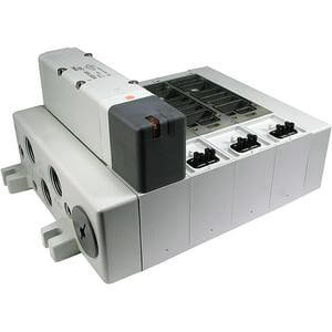 VV5Q51-T1, 5000 Series, Base Mounted Manifold, Plug-in, Individual Terminal Block