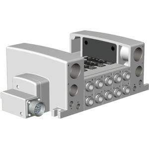 VV5QC41-**M, Base Mounted, Plug-in Unit, Multi-Connector