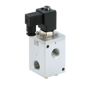 VCH410, 5.0 MPa Pilot Operated 3 Port Solenoid Valve for Air