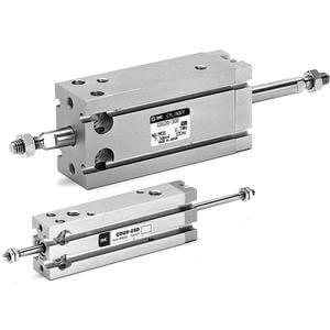 C(D)UW, Miniaturzylinder für Direktmontage, durchgehende Kolbenstange