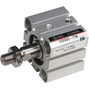 C(D)QS, Compact Cylinder, Single Acting,  Single Rod