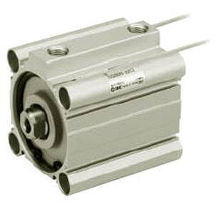 C(D)Q2*S, Compact Cylinder, Double Acting, Single Rod, Anti-lateral Load w/Auto Switch Mounting Groove