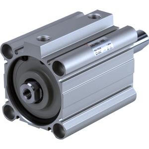 55-C(D)Q2W, Compact Cylinder, Double Acting Double Rod w/Auto Switch Mounting Groove, ATEX category 2 - II 2GDc