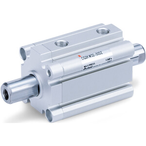 C(D)Q2KW, Compact Cylinder, Double Acting, Double Rod, Non-rotating w/Auto Switch Mounting Groove