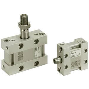 M(D)U Plate Cylinder, Single Acting w/Auto Switch Mounting Groove