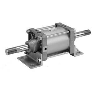 C(D)S2W, Air Cylinder, Double Acting, Double Rod