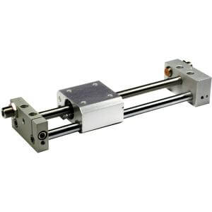 Rodless Cylinder, NC(D)Y2S, Magnetically Coupled, (Inch Stroke)  - Slide Bearing