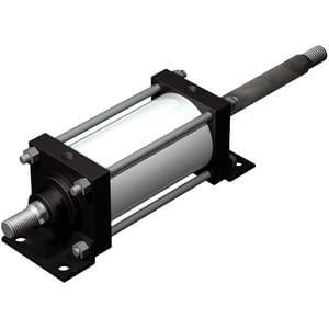 C(D)S1W, Air Cylinder, Double Acting Double Rod (Lube Type)
