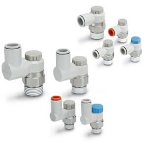 AS*2/3*1F-A, Drosselrückschlagventil mit Steckverbindung, verriegelbare Ausführung, Winkel/Universal