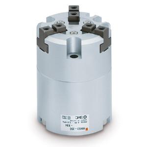 MHS3-X84, Pince pneumatique, 3 doigts, serrage en parallèle, Simple effet